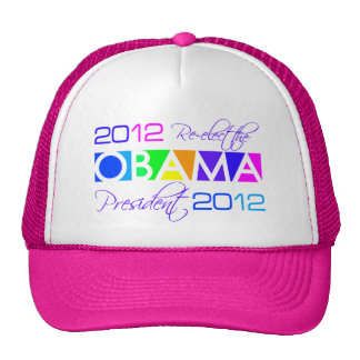 OBAMA 2012 hat - choose color