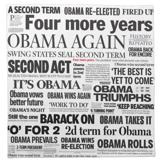 Obama 2012 Headline Collage Napkins