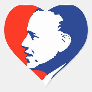Obama 2012 heart sticker