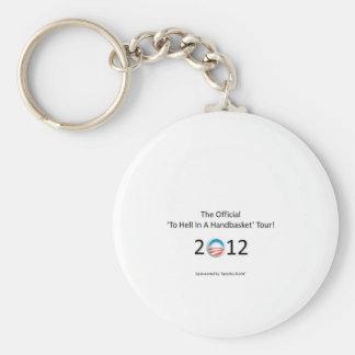 obama 2012 hell in a handbasket tour basic round button keychain