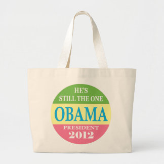 Obama 2012 - He's Still The One! Jumbo Tote Bag