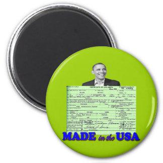Obama 2012 hizo en los E.E.U.U. Imán Redondo 5 Cm