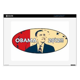 """OBAMA 2012 HOPE DESIGN DECALS FOR 15"""" LAPTOPS"""