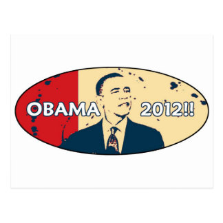 OBAMA 2012 HOPE DESIGN POSTCARD