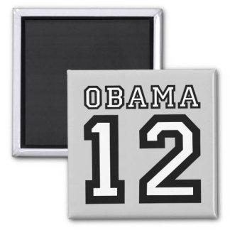 Obama 2012 imán cuadrado