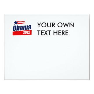 """Obama 2012 invitación 4.25"""" x 5.5"""""""