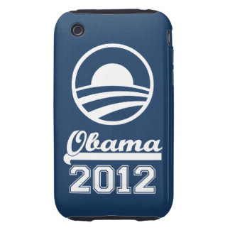 OBAMA 2012 iPhone 3 Tough Case-Mate navy
