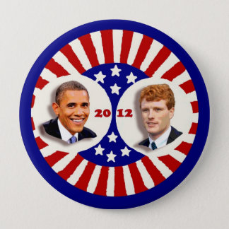 Obama 2012 Kennedy Coat Tail Pinback Button