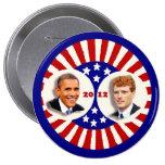 Obama 2012 Kennedy Coat Tail Pinback Button