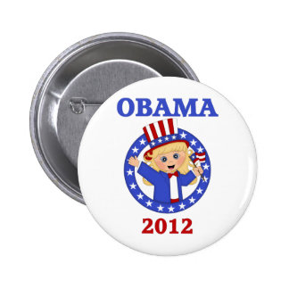 Obama 2012 Kids Tees and Gifts - for Girls Pinback Button