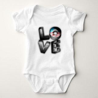 Obama 2012 L-O-V-E Baby Bodysuit