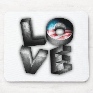 Obama 2012 L-O-V-E Mouse Pad