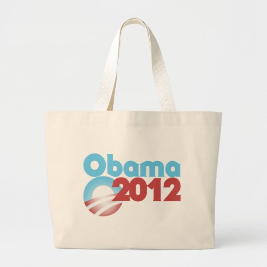Obama 2012 large tote bag