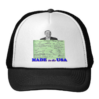 Obama 2012 Made in USA Hat