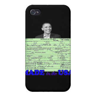 Obama 2012 Made in USA iPhone 4 Cases