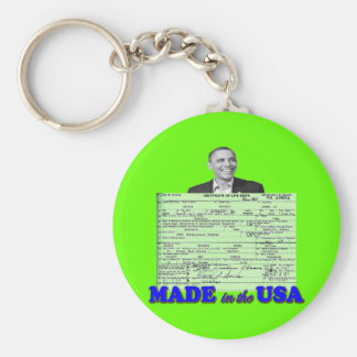 Obama 2012 Made in USA Key Chain