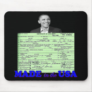 Obama 2012 Made in USA Mouse Pad