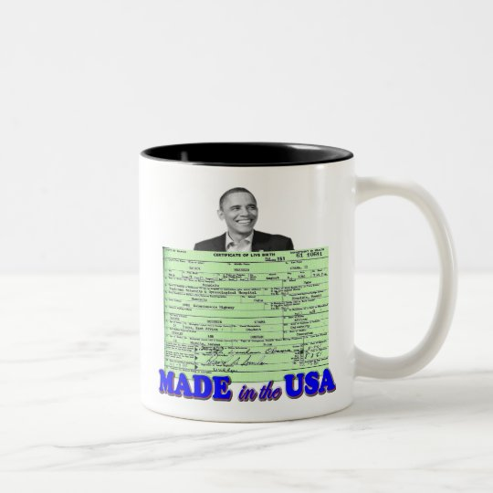 Obama 2012 Made in USA Two-Tone Coffee Mug