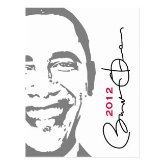 Obama 2012 Mod Postcard