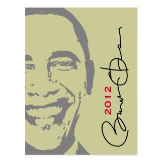 Obama 2012 Modern Campaign Postcard