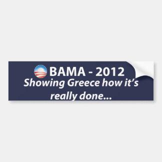 OBAMA 2012 - Mostrando Grecia… Etiqueta De Parachoque