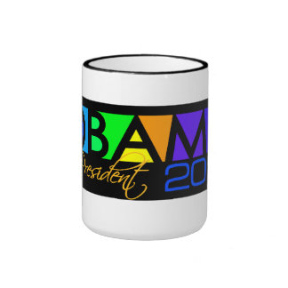 OBAMA 2012 mug - choose style color