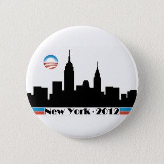 Obama 2012 New York City Skyline Button
