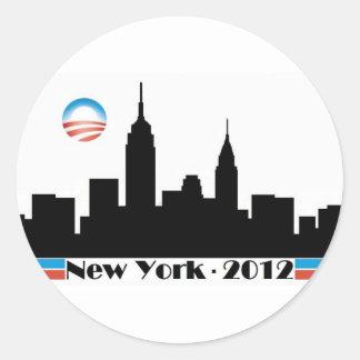 Obama 2012 New York City Skyline Stickers
