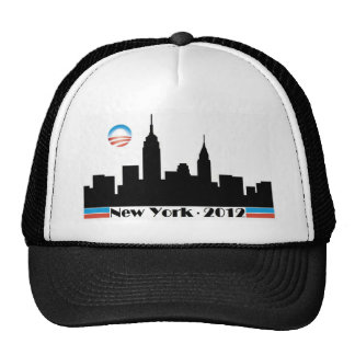 Obama 2012 New York City Skyline Trucker Hat