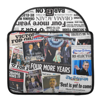 Obama 2012 Newspaper Collage MacBook Pro Sleeve