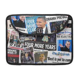 Obama 2012 Newspaper Collage MacBook Pro Sleeve