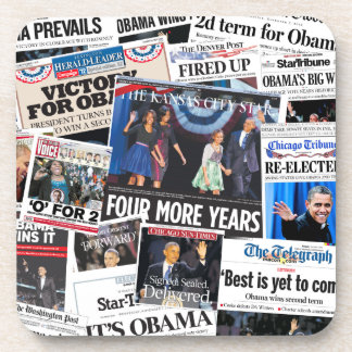 Obama 2012 Newspaper Front Page Coaster
