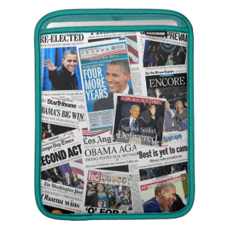 Obama 2012 Newspaper Front Pages iPad Sleeve