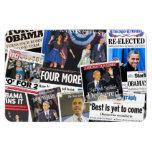 Obama 2012 Newspaper Headline Magnet