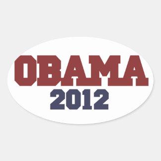 Obama 2012 oval sticker
