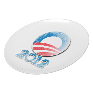 OBAMA 2012 PARTY PLATES