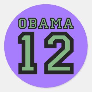 Obama 2012 etiquetas redondas