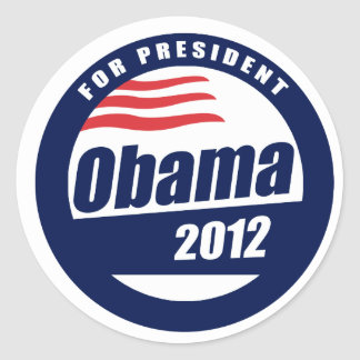 Obama 2012 pegatina redonda