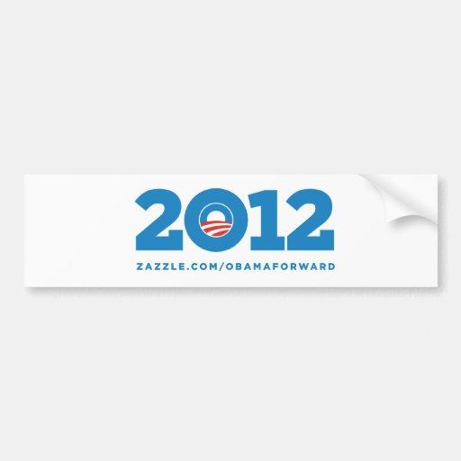 "Obama ""2012"" pegatinas para el parachoques etiqueta de parachoque"