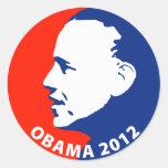Obama 2012 pegatinas redondas