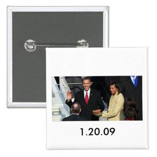 Obama 2012 pin cuadrada 5 cm