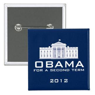 Obama 2012 pin cuadrado