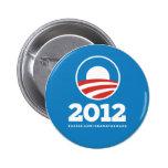 """Obama """"2012"""" Pin del botón"""