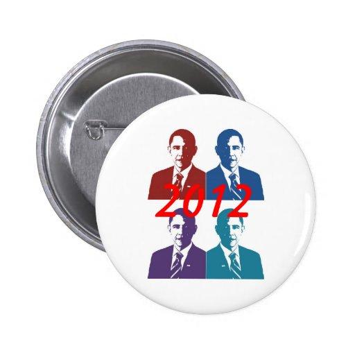 Obama 2012 pin redondo 5 cm