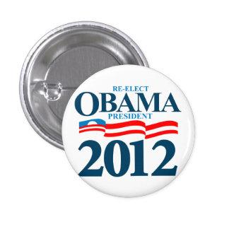 Obama 2012 pin redondo de 1 pulgada