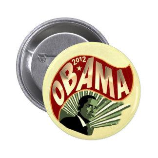 Obama 2012 pin redondo de 2 pulgadas