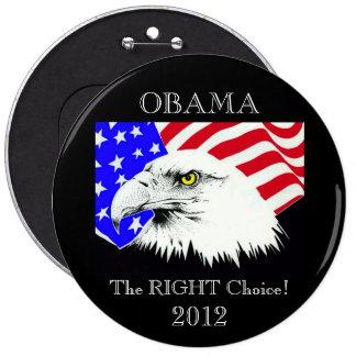 Obama 2012 pin redondo de 6 pulgadas