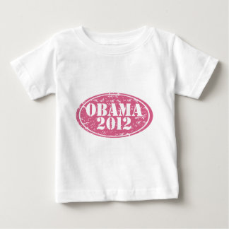 obama 2012 pink faded baby T-Shirt