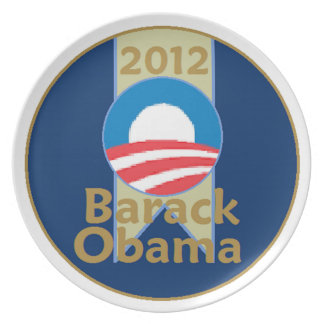Obama 2012 plato de comida