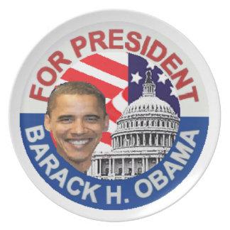 Obama 2012 platos